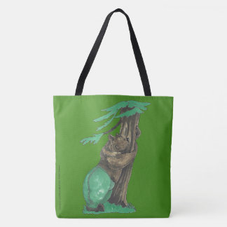 Cute Tree Hugging Bear Wearing Fancy Leggings Tote Bag