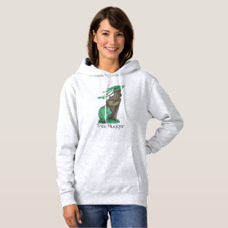 Cute Tree Hugging Bear With Leggings Tree Hugger Hoodie