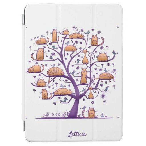 Cute Tree of Life with Cats  iPad Air Cover