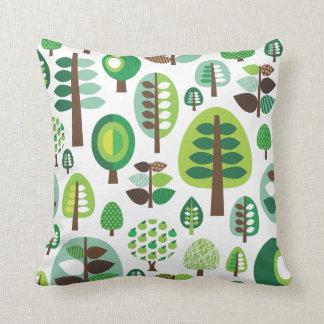 Cute tree retro pattern flower apple design throw pillow