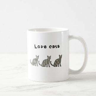 Cute trendy abstract cats coffee mug