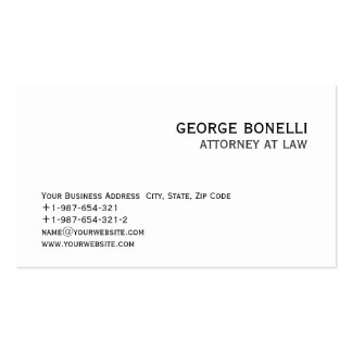 Cute Trendy Attorney at Law Business Card