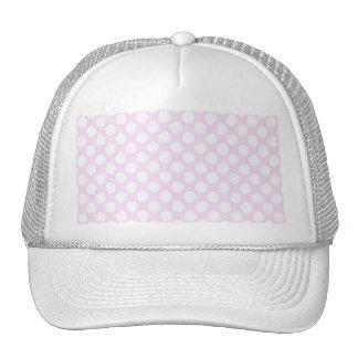 Cute Trendy Baby Pink White Polka Dots Pattern Mesh Hat