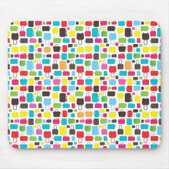 Cute trendy bags pattern mousepad