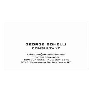 Cute Trendy Black White Classical Business Card