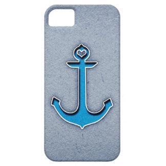 Cute Trendy Blue Paper Heart Anchor iPhone SE/5/5s Case