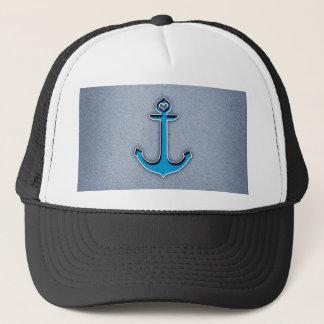 Cute Trendy Blue Paper Heart Anchor Trucker Hat
