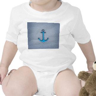 Cute Trendy Blue Paper Heart Anchor Tshirts
