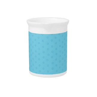 Cute Trendy Blue Polka Dots Custom Pitcher or Jar