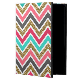 Cute trendy chevron faux glitter zigzag pattern powis iPad air 2 case