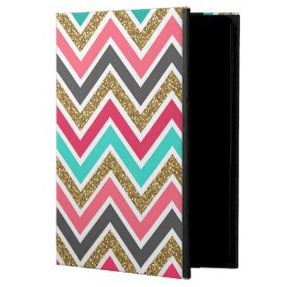 Cute trendy chevron faux glitter zigzag pattern powis iPad air 2 case