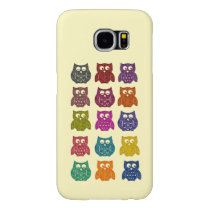 Cute Trendy fancy colorful abstract owls Samsung Galaxy S6 Case