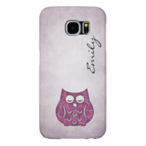 Cute Trendy fancy girly abstract owl personalized Samsung Galaxy S6 Case