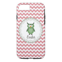 Cute Trendy fancy girly  owl personalized iPhone 7 Case