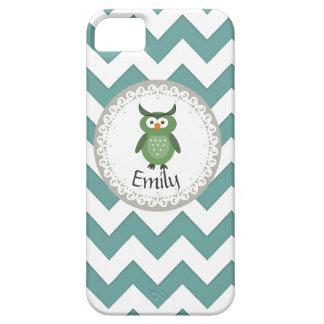 Cute Trendy fancy girly  owl personalized iPhone SE/5/5s Case