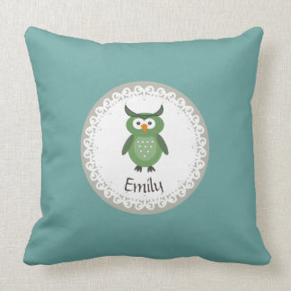 Cute Trendy fancy girly  owl personalized Pillows