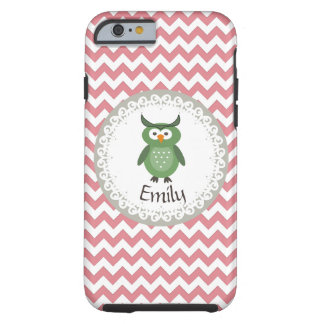 Cute Trendy fancy girly  owl personalized Tough iPhone 6 Case