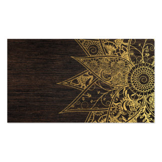 Cute trendy flower henna hand drawn design Double-Sided standard business cards (Pack of 100)