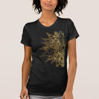 Cute trendy flower henna hand drawn design T-Shirt