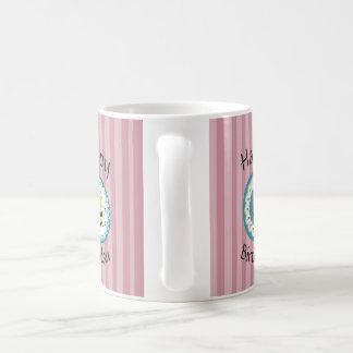 Cute trendy girly cartoon bees monogram coffee mug