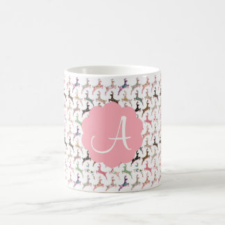 Cute trendy girly deer pattern coffee mug
