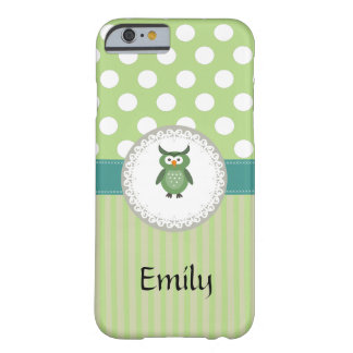 Cute Trendy  girly  fun cartoon owl personalized Barely There iPhone 6 Case