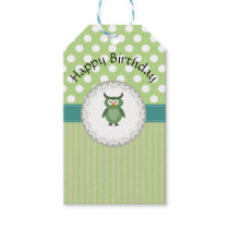 Cute Trendy  girly  fun cartoon owl personalized Gift Tags