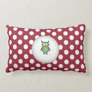 Cute Trendy  girly  fun cartoon owl personalized Pillows