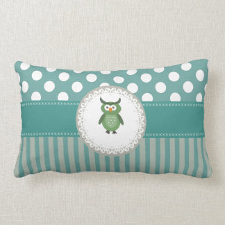 Cute Trendy  girly  fun cartoon owl personalized Throw Pillows