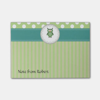 Cute Trendy  girly  fun cartoon owl personalized Post-it Notes
