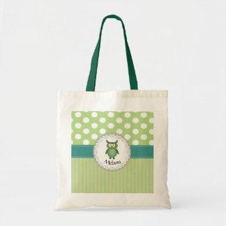Cute Trendy  girly  fun cartoon owl personalized Tote Bag