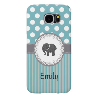 Cute Trendy  girly  fun elephant personalized Samsung Galaxy S6 Cases