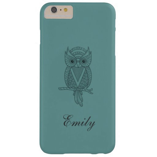 Cute trendy girly owl personalized barely there iPhone 6 ...