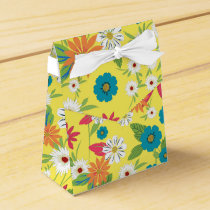 Cute trendy girly soft colours floral pattern favor box