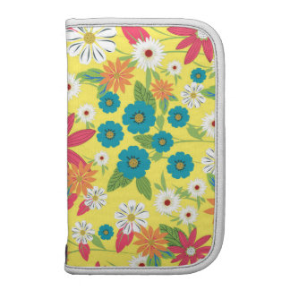 Cute trendy girly soft colours floral pattern planners