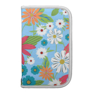 Cute trendy girly soft colours floral pattern planner