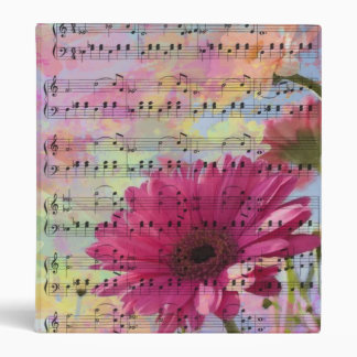Cute trendy girly watercolours Gerbera flowers Binder