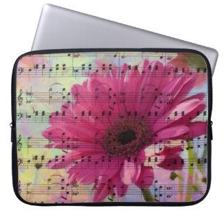 Cute trendy girly watercolours Gerbera flowers Computer Sleeve