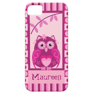 Cute trendy iPhone 5 case with Owl and Name