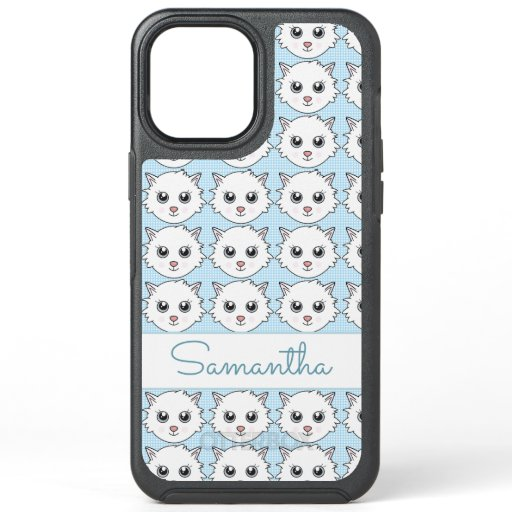 Cute Trendy Kitten OtterBox Symmetry iPhone 12 Pro Max Case