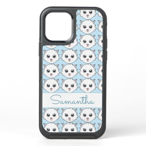 Cute Trendy Kitten OtterBox Symmetry iPhone 12 Case