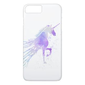 Cute trendy magic unicorn pink watercolor nebula iPhone 8 plus/7 plus case