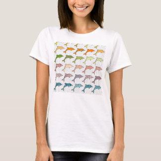 Cute Trendy Pastel Dolphins on polka dot T-Shirt