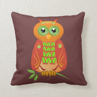 Cute trendy pillow with Owls