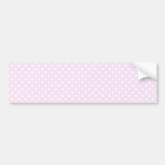 Cute Trendy Pink White Polka Dots Pattern Bumper Sticker