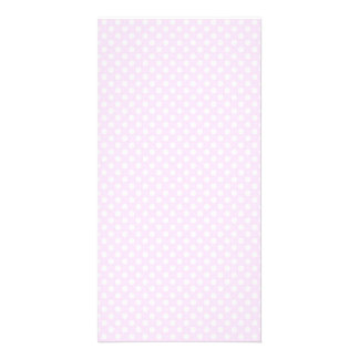 Cute Trendy Pink White Polka Dots Pattern Card