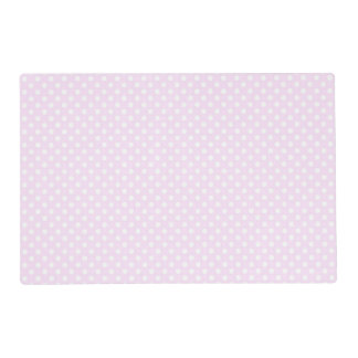 Cute Trendy Pink White Polka Dots Pattern Placemat