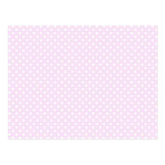Cute Trendy Pink White Polka Dots Pattern Postcard