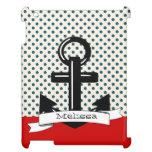 Cute Trendy Polka A Dot and Red Nautical Ipad Case