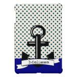 Cute Trendy Polka A Dot & Blue Nautical Ipad Case